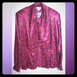 NWT Attractive Evan-Picone Polyester Blouse